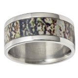 Mens Camo Wedding Band
