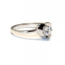 Diamond Heart Promise Ring Side
