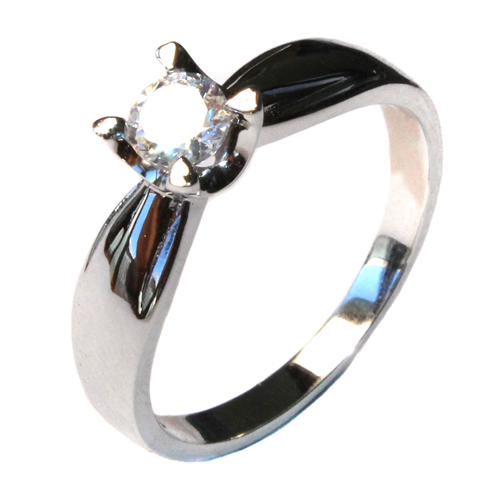 Diamond Promise Ring - Silver Solitaire