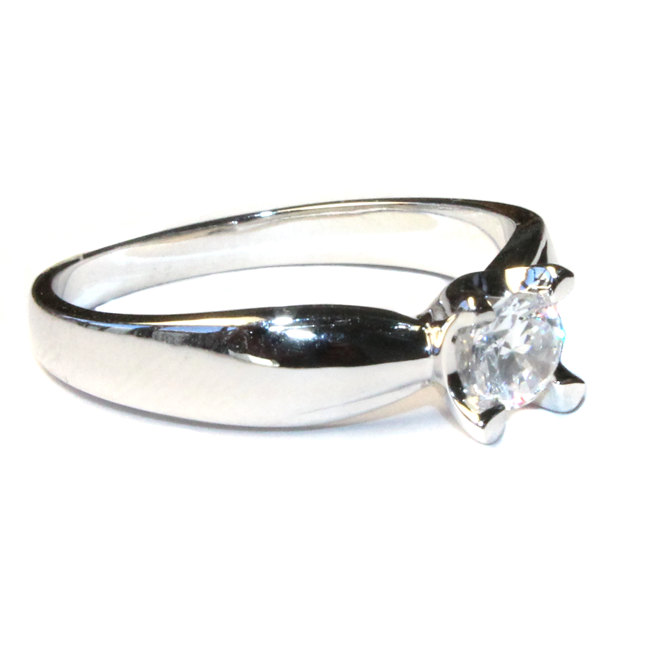 promise ring silver solitaire beautiful