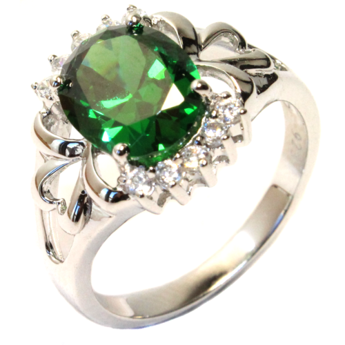 Emerald Green Promise Ring