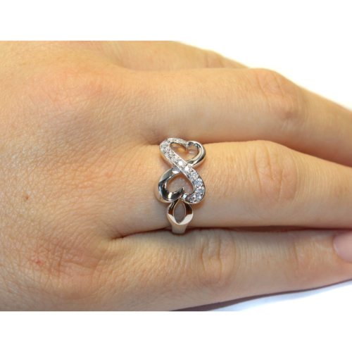 Infinity Promise Ring Hand