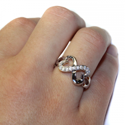 Infinity Promise Ring Hand2
