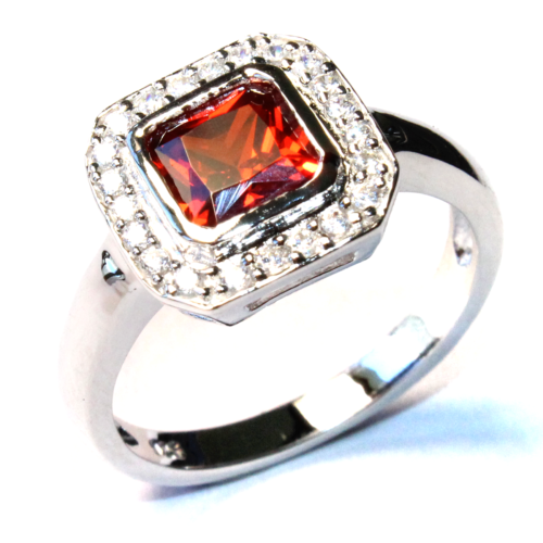 Princess Cut Ruby Red Promise Ring