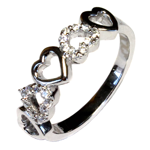 5 Hearts Promise Ring