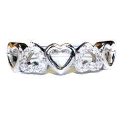 5 Hearts Promise Ring Front