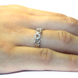 5 Hearts Promise Ring on Hand