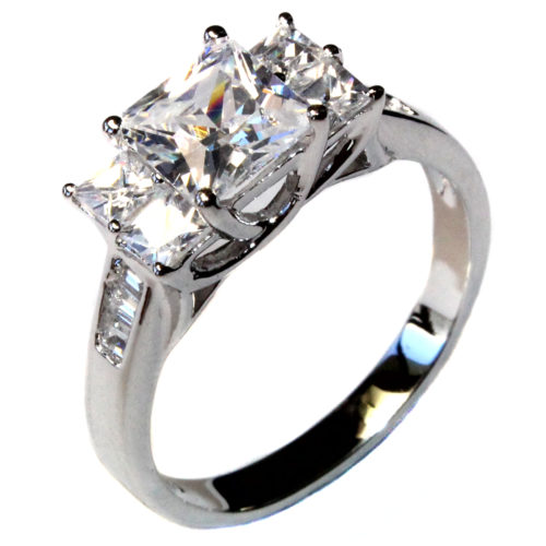5 Stone Princess Cut Diamond Promise Ring