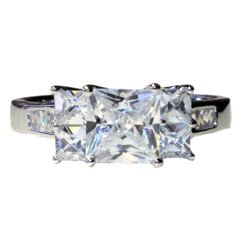 5 Stone Princess Cut Diamond Promise Ring Front