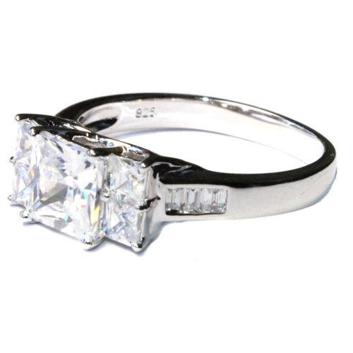 5 Stone Princess Cut Diamond Promise Ring Side
