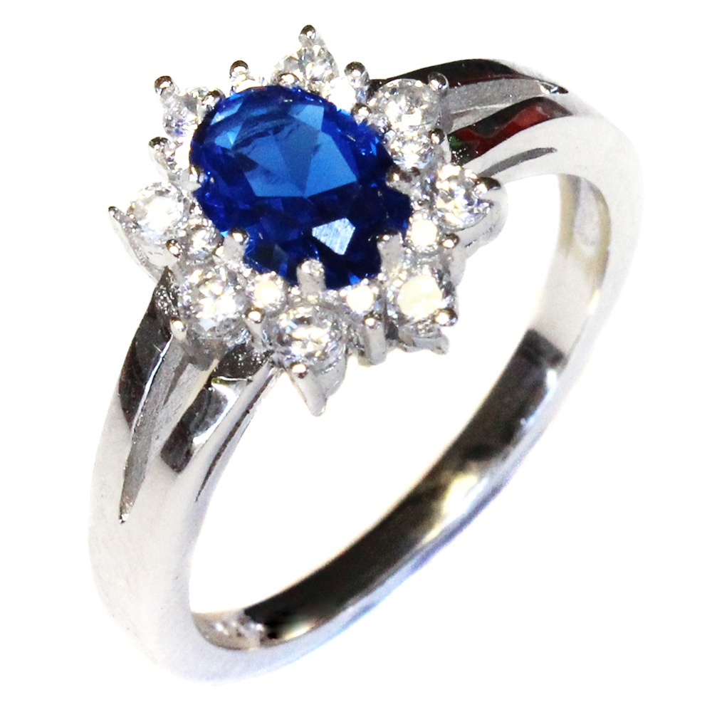 Sapphire Promise Ring Blue Cubic Zirconia Beautiful Promise Rings