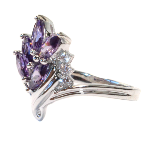 Purple Flower Ring Side