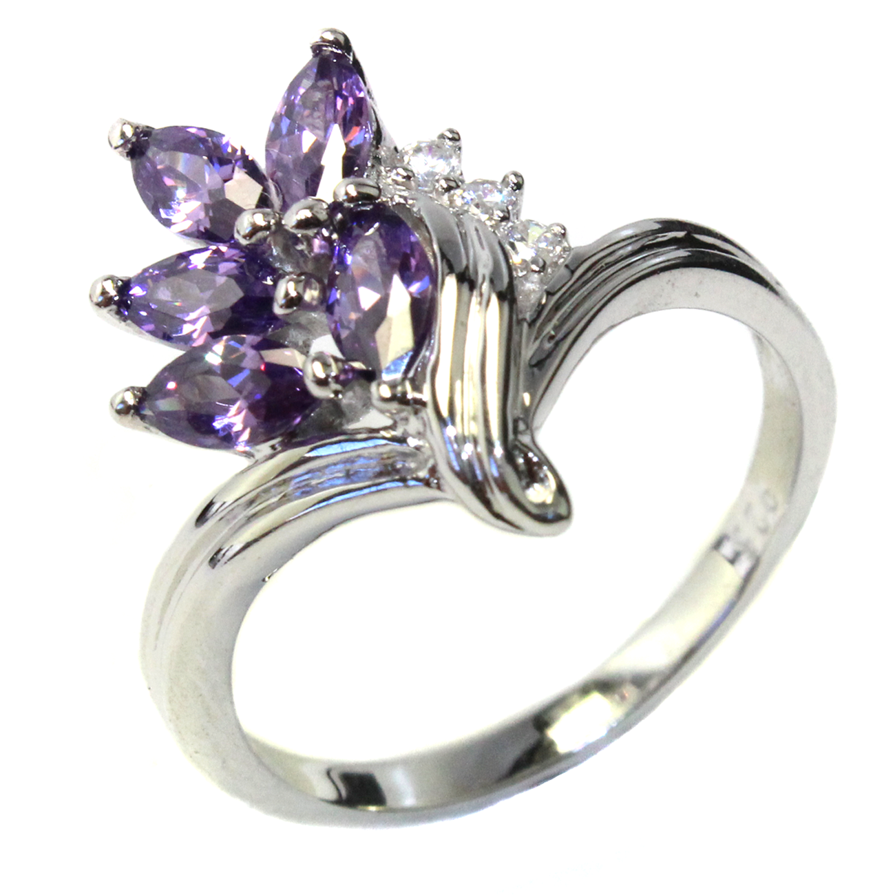 Purple Flower Ring - Beautiful Promise Rings