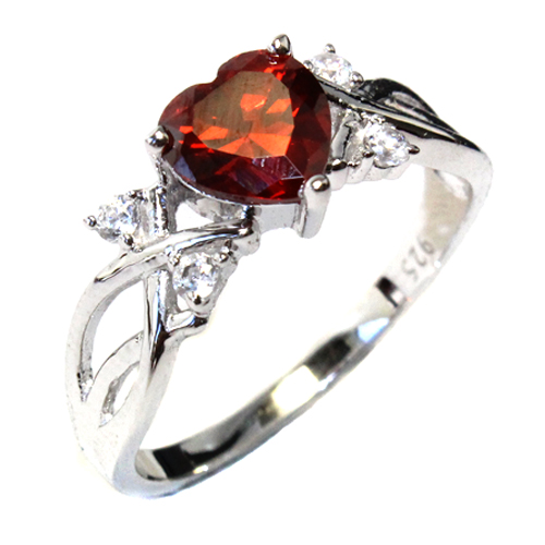 Ruby Heart Promise Ring