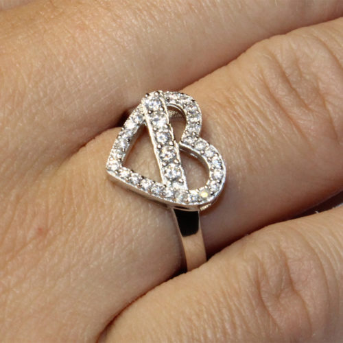 Diamond Heart Shaped Promise Ring