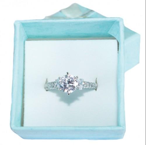 Diamond Promise Ring in Box