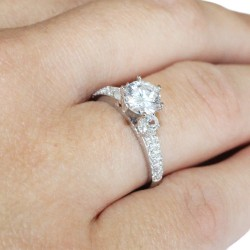 Diamond Promise Ring on Hand2