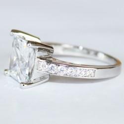 Princess Cut Diamond Promise Ring Side