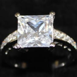 Princess Cut Diamond Promise Ring in Box