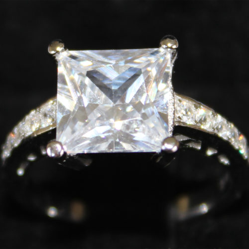 Princess Cut Diamond Promise Ring in Box