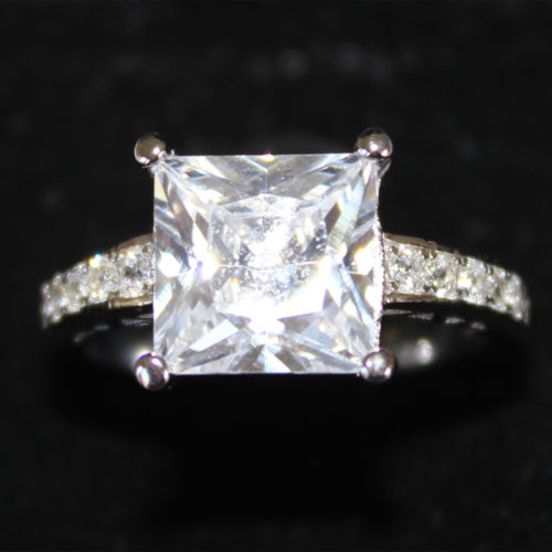 Princess Cut Diamond Promise Ring in Box2