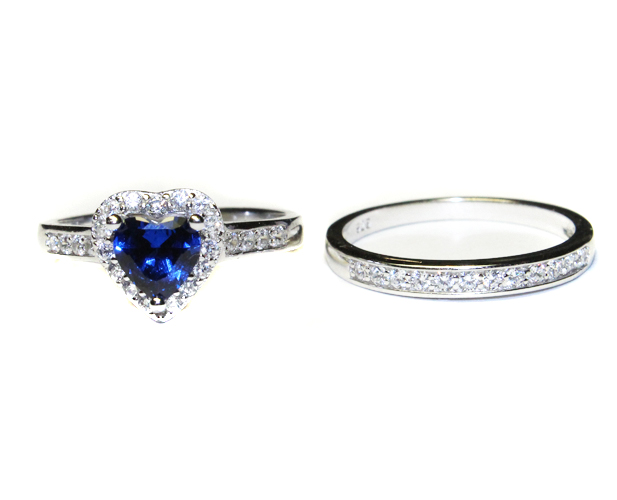 and collection v diamond p cherished rings blue size cluster sterling swirl sapphire ring in accent silver promise