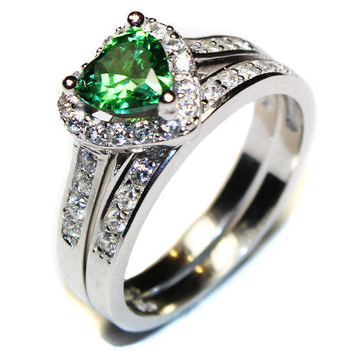 Emerald Heart Promise Ring