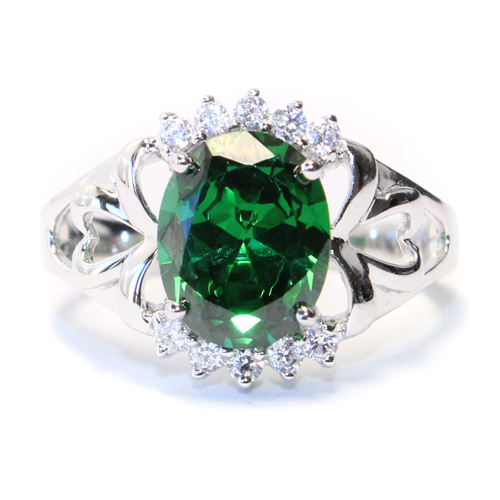 Emerald Green Promise Ring Front