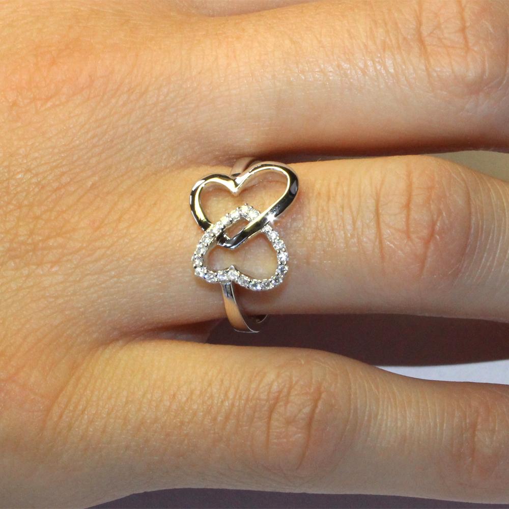 Silver Princess Cut Amethyst Ring