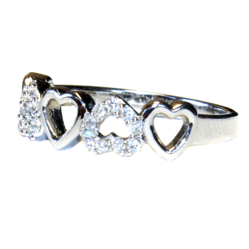5 Hearts Promise Ring Side
