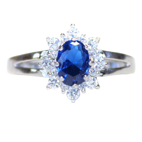Classic Sapphire Promise Ring Front