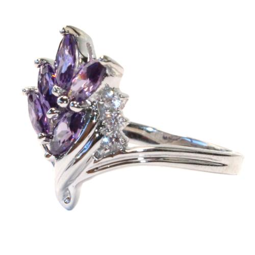 Purple Flower Ring Side