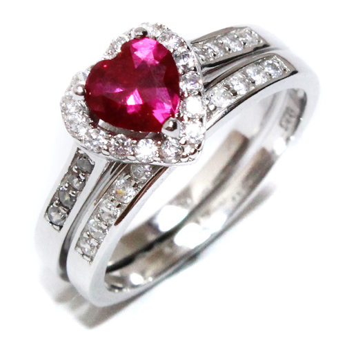 Ruby Red Heart Promise Ring