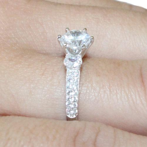Diamond Promise Ring on hand 3
