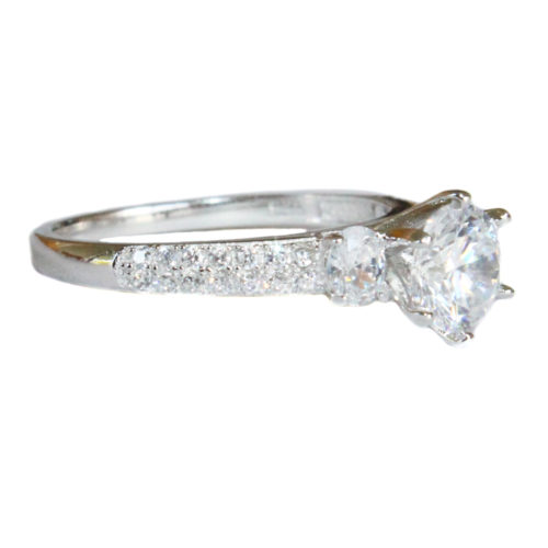 Diamond Promise Ring side