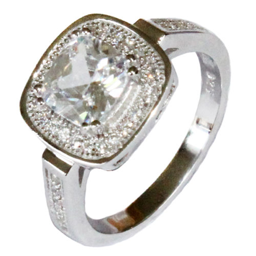 Diamond Halo Promise Ring